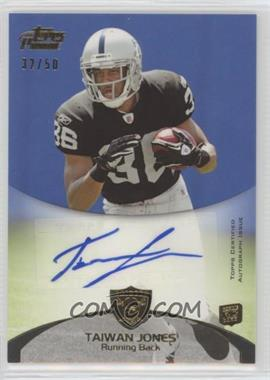 2011 Topps Prime - Rookie Autographs - Gold #93 - Taiwan Jones /50