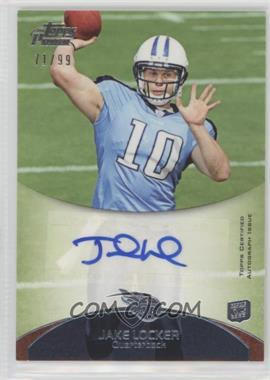 2011 Topps Prime - Rookie Autographs #82 - Jake Locker /99