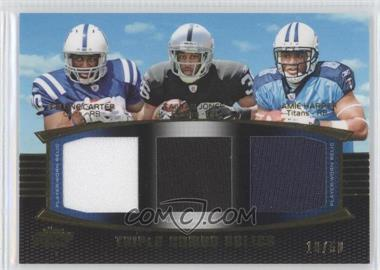 2011 Topps Prime - Triple Combo Relics - Gold #TCR-CJH - Delone Carter, Taiwan Jones /50