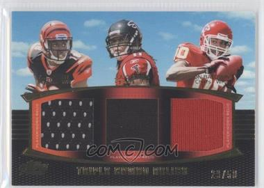 2011 Topps Prime - Triple Combo Relics - Gold #TCR-GJB - A.J. Green, Julio Jones /50