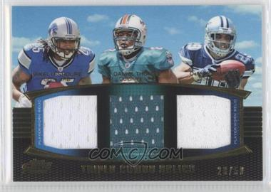 2011 Topps Prime - Triple Combo Relics - Gold #TCR-LTM - DeMarco Murray, Mikel Leshoure, Daniel Thomas /50