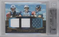 Cam Newton, Jake Locker, Blaine Gabbert /50 [BGS 9 MINT]