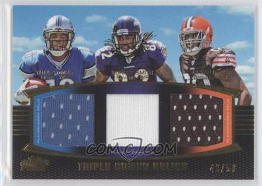 2011 Topps Prime - Triple Combo Relics - Gold #TCR-YSL - Titus Young, Torrey Smith, Greg Little /50