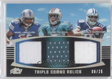 2011 Topps Prime - Triple Combo Relics - Silver Rainbow #TCR-LTM - DeMarco Murray, Mikel Leshoure, Daniel Thomas /25