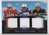 Kendall Hunter, Delone Carter, Taiwan Jones #/388