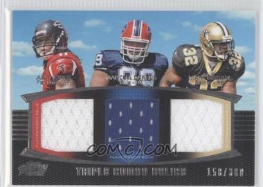 2011 Topps Prime - Triple Combo Relics #TCR-JDI - Julio Jones, Marcell Dareus, Mark Ingram /388