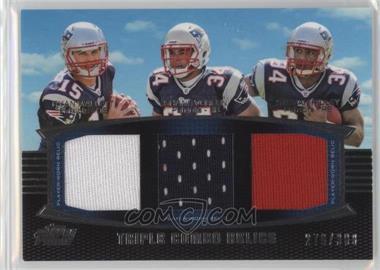 2011 Topps Prime - Triple Combo Relics #TCR-MVR - Ryan Mallett, Shane Vereen, Stevan Ridley /388
