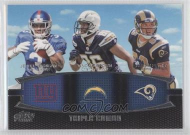 2011 Topps Prime - Triple Combo #TC-JBP - Jerrel Jernigan, Vincent Brown, Austin Pettis