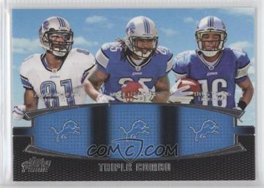 2011 Topps Prime - Triple Combo #TC-JLY - Calvin Johnson, Mikel Leshoure, Titus Young