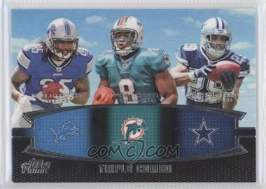 2011 Topps Prime - Triple Combo #TC-LTM - Mike Leach, DeMarco Murray