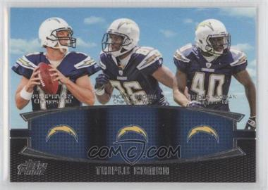 2011 Topps Prime - Triple Combo #TC-RBT - Philip Rivers, Vincent Brown, Jordan Todman
