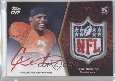 2011 Topps Rising Rookies - NFL Shield Rookie Autographed Patch - Red Ink #SRAP-CM - Cam Newton /5