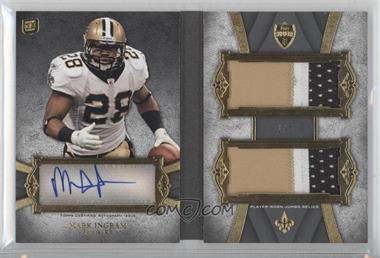 2011 Topps Supreme - Autographed Double Jumbo Relics Book - Platinum Patch #SADJR-MI - Mark Ingram /1
