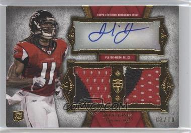 2011 Topps Supreme - Autographed Dual Relic - Red Patch #SADR-JJ - Julio Jones /10