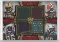 Randall Cobb, Greg Little, Vincent Brown, Edmond Gates #/10
