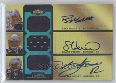 2011 Topps Triple Threads - Autographed Relic Combos - Emerald #TTARC-10 - Ryan Mallett, Shane Vereen, Stevan Ridley /18