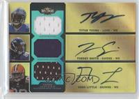 Titus Young, Torrey Smith, Greg Little /18