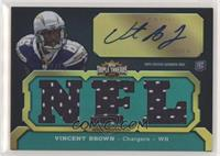 Vincent Brown (NFL) #/50