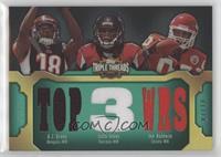 A.J. Green, Julio Jones, Jon Baldwin #/18