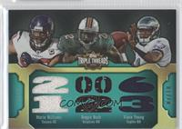 Reggie Bush, Vince Young, Mario Williams #/18