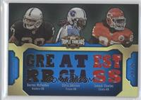 Darren McFadden, Chris Johnson, Jamaal Charles /36