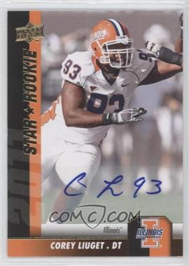 2011 Upper Deck - [Base] - Gold Autographs [Autographed] #120 - Corey Liuget