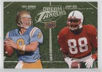 Jerry Rice, Troy Aikman