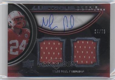 2011 Upper Deck Black - Lustrous Rookie Signatures Memorabilia - [Autographed] #14 - Niles Paul /75