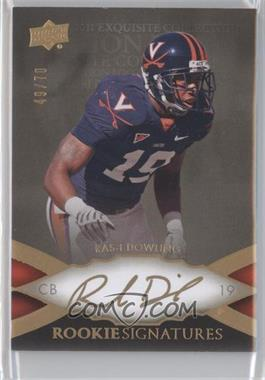 2011 Upper Deck Exquisite Collection - [Base] #61 - Ras-I Dowling /70