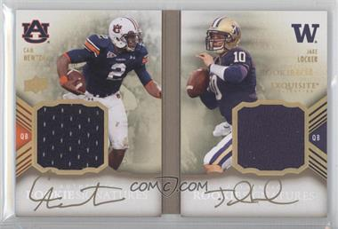 2011 Upper Deck Exquisite Collection - Rookie Bookmarks #RBM-NL - Cam Newton, Jake Locker /40