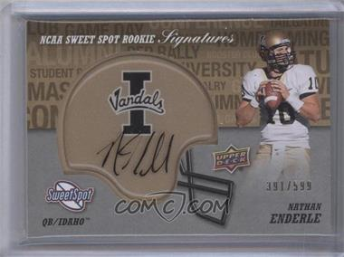 2011 Upper Deck Sweet Spot - Rookie Signatures #RS-NE - Nathan Enderle /599
