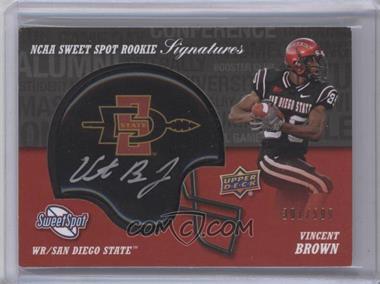 2011 Upper Deck Sweet Spot - Rookie Signatures #RS-VB - Vincent Brown /599