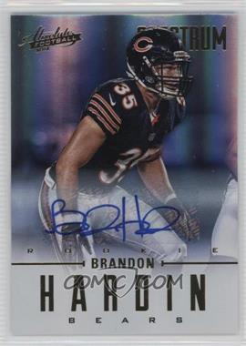 2012 Absolute - [Base] - Spectrum Gold Autographs [Autographed] #108 - Brandon Hardin /299