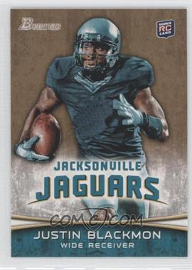 2012 Bowman - [Base] - Gold #130 - Justin Blackmon