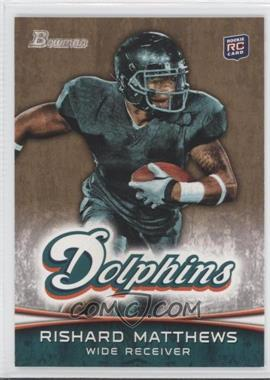 2012 Bowman - [Base] - Gold #138 - Rishard Matthews