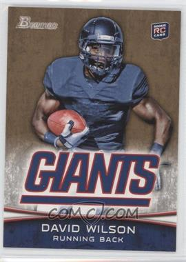 2012 Bowman - [Base] - Gold #153 - David Wilson