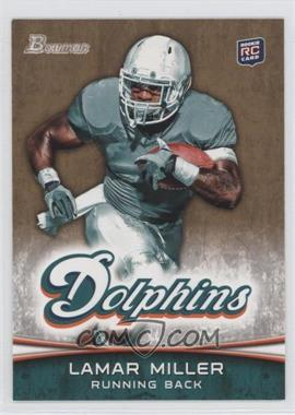 2012 Bowman - [Base] - Gold #174 - Lamar Miller