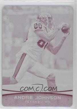2012 Bowman - [Base] - Printing Plate Magenta #80 - Andre Johnson /1