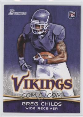 2012 Bowman - [Base] - Purple #136 - Greg Childs