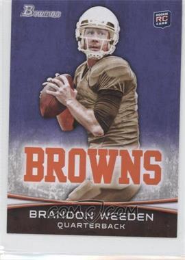 2012 Bowman - [Base] - Purple #161 - Brandon Weeden