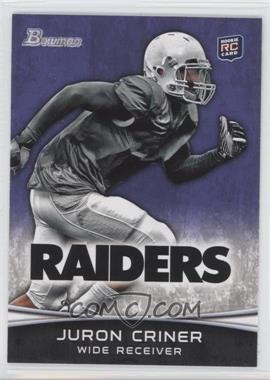 2012 Bowman - [Base] - Purple #183 - Juron Criner