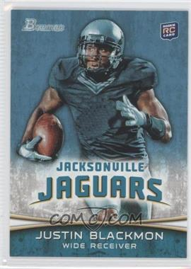 2012 Bowman - [Base] #130.1 - Justin Blackmon (Ball in Right Hand/Green Jersey)