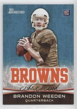 2012 Bowman - [Base] #161.1 - Brandon Weeden (Brown Jersey)
