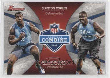 2012 Bowman - Combine Competition #CC-CI - Melvin Ingram, Quinton Coples