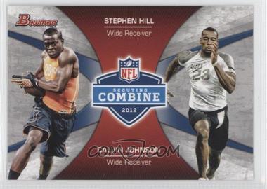 2012 Bowman - Combine Competition #CC-HJ - Stephen Hill, Calvin Johnson