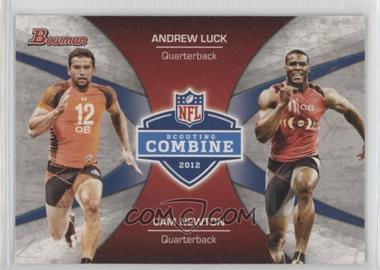 2012 Bowman - Combine Competition #CC-LN - Andrew Luck, Cam Newton