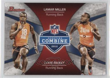 2012 Bowman - Combine Competition #CC-MR - Lamar Miller, Chris Rainey