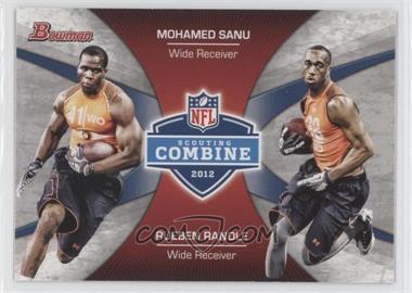 2012 Bowman - Combine Competition #CC-SR - Mohamed Sanu, Rueben Randle