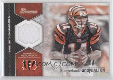 2012 Bowman - Inside the Numbers Relics #ITNR-AD - Andy Dalton