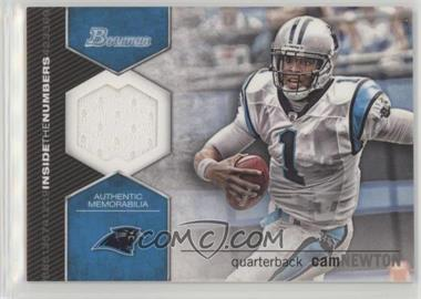2012 Bowman - Inside the Numbers Relics #ITNR-CN - Cam Newton
